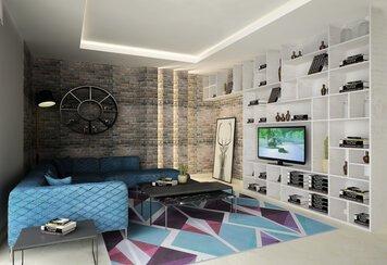 Online design Modern Living Room by Lea S. thumbnail