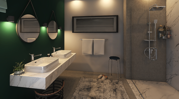 Online design Contemporary Bathroom by Lizzy M. thumbnail
