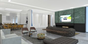 Online design Eclectic Combined Living/Dining by Vanessa A. thumbnail