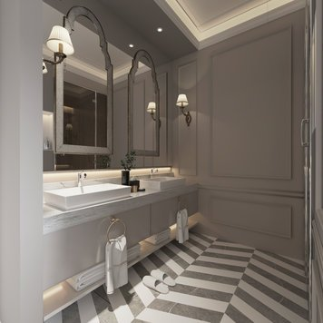 Online design Eclectic Bathroom by Nathalie I. thumbnail