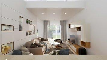 Online design Modern Living Room by Pratiksha K. thumbnail
