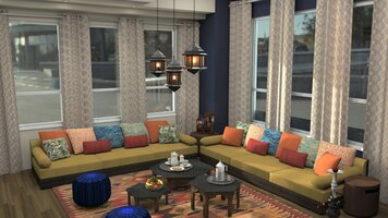 Online design Traditional Living Room by Krystyna A. thumbnail