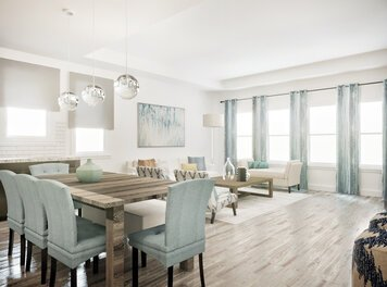 Online design Contemporary Combined Living/Dining by Shasta P. thumbnail