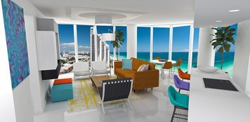 Online design Modern Combined Living/Dining by Laura A. thumbnail