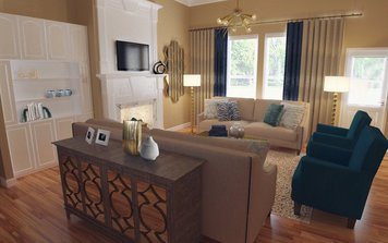 Online design Glamorous Living Room by Audrey P. thumbnail