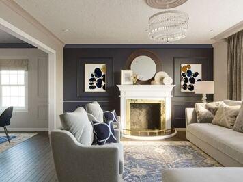 Online design Transitional Living Room by Darya N. thumbnail