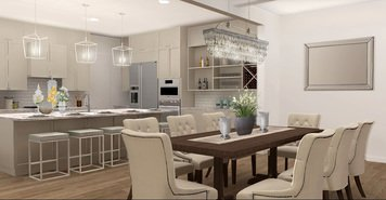 Online design Traditional Combined Living/Dining by Ani K. thumbnail