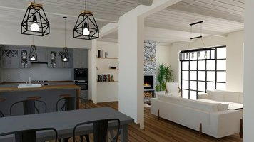 Online design Country/Cottage Combined Living/Dining by Selma A. thumbnail
