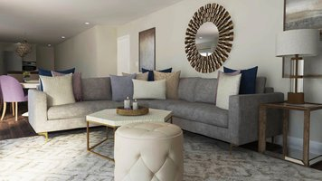 Online design Transitional Combined Living/Dining by Selma A. thumbnail