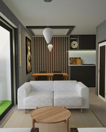 Online design Modern Combined Living/Dining by Venessa T. thumbnail