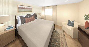 Online design Transitional Bedroom by Meghan E. thumbnail