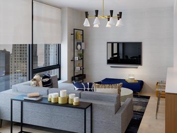 Online design Contemporary Living Room by Lynda N thumbnail