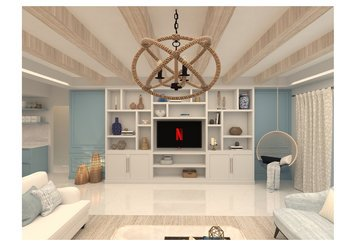 Online design Transitional Combined Living/Dining by Salma o. thumbnail