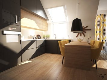 Online design Modern Kitchen by Dominika Z. thumbnail