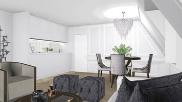 Online design Traditional Combined Living/Dining by Ilaria C. thumbnail