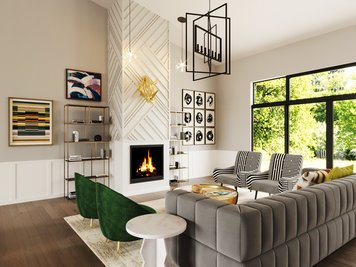 Online design Eclectic Living Room by Jessica S. thumbnail