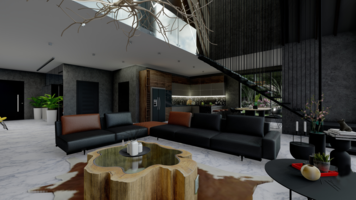 Online design Contemporary Combined Living/Dining by Seda G. thumbnail