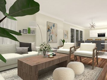 Online design Transitional Combined Living/Dining by Eda B. thumbnail