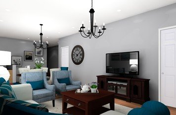Online design Transitional Combined Living/Dining by Noraina Aina M. thumbnail