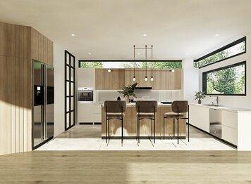 Online design Contemporary Kitchen by Mahirah H. thumbnail