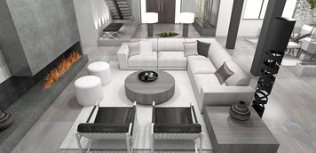 Online design Modern Living Room by Laura A. thumbnail