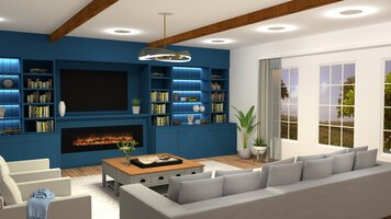 Online design Transitional Living Room by Aboli P. thumbnail