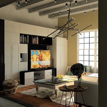 Online design Eclectic Living Room by Ahmed E. thumbnail