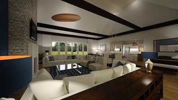 Online design Contemporary Combined Living/Dining by Dale C. thumbnail