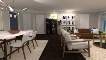 Online design Modern Combined Living/Dining by Jatnna M. thumbnail