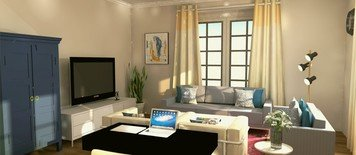 Online design Eclectic Living Room by Keerthana V. thumbnail