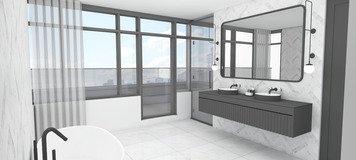 Online design Modern Bathroom by Nouchka S. thumbnail