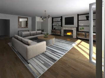Online design Modern Living Room by Gianna M. thumbnail