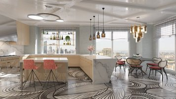 Online design Contemporary Kitchen by Andres S. thumbnail