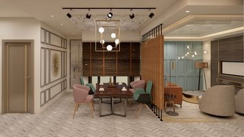 Online design Transitional Combined Living/Dining by Anup T. thumbnail