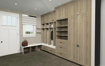 Online design Modern Hallway/Entry by Krystyna A. thumbnail
