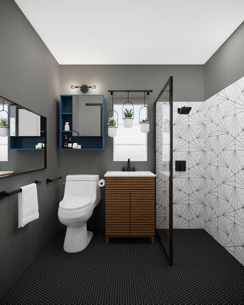 Online design Modern Bathroom by Casey H. thumbnail