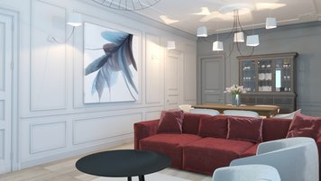 Online design Traditional Living Room by Irene K. thumbnail