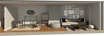 Online design Contemporary Combined Living/Dining by Brianna S. thumbnail