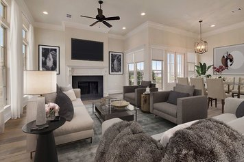 Online design Contemporary Combined Living/Dining by Abby J. thumbnail
