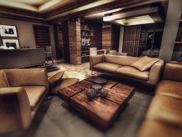 Online design Contemporary Living Room by Ahmed E. thumbnail