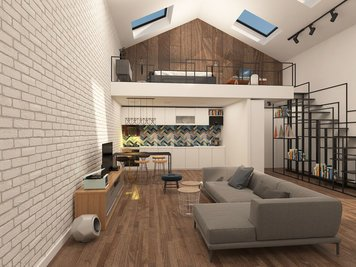 Online design Modern Combined Living/Dining by Lidija P. thumbnail