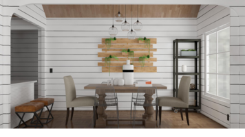 Online design Transitional Combined Living/Dining by Ebere O. thumbnail