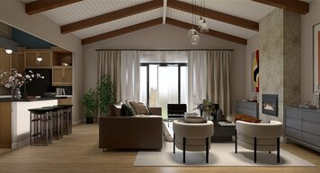 Online design Contemporary Combined Living/Dining by Nathan H. thumbnail