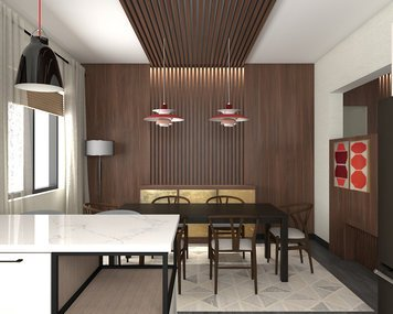 Online design Transitional Dining Room by Jessica S. thumbnail