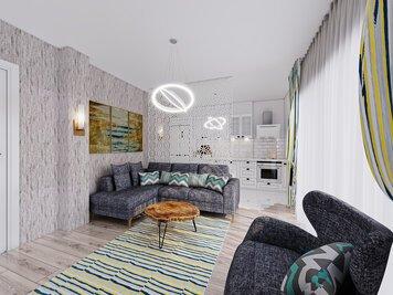 Online design Contemporary Living Room by Seda G. thumbnail