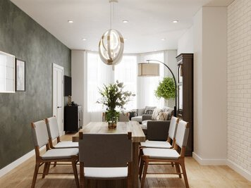 Online design Eclectic Combined Living/Dining by Aida A. thumbnail
