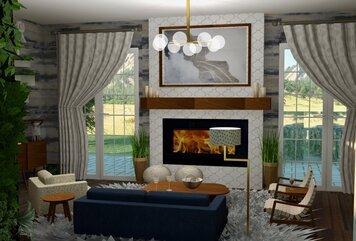 Online design Transitional Living Room by Skyler G. thumbnail