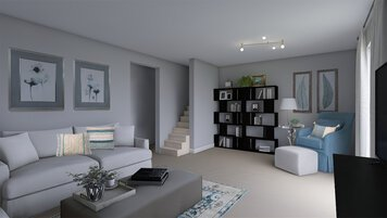 Online design Contemporary Living Room by Dale C. thumbnail