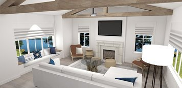 Online design Beach Combined Living/Dining by Laura A. thumbnail