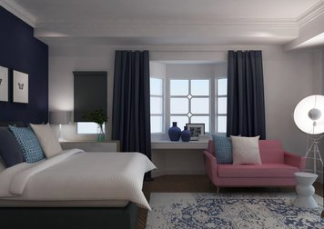 Online design Transitional Bedroom by Ibrahim H. thumbnail